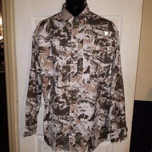 REEL LEGENDS Button Down Mesh Lined Shirt